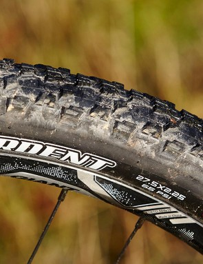 The stock Maxxis Ardents roll fast