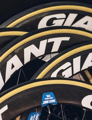 This year Team Sunweb will be racing Giant wheels