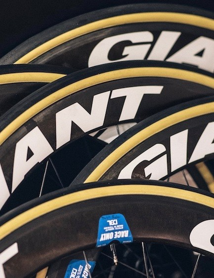 This year Team Sunweb will be racing Giant wheels