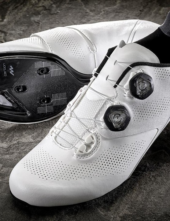 Fit is adjusted by twin Boa dials, but with an added twist — ExoWrap