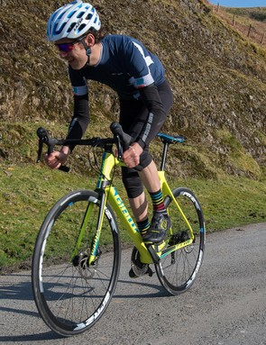 The TCR rewards hard efforts uphill and wills you to ride out of the saddle