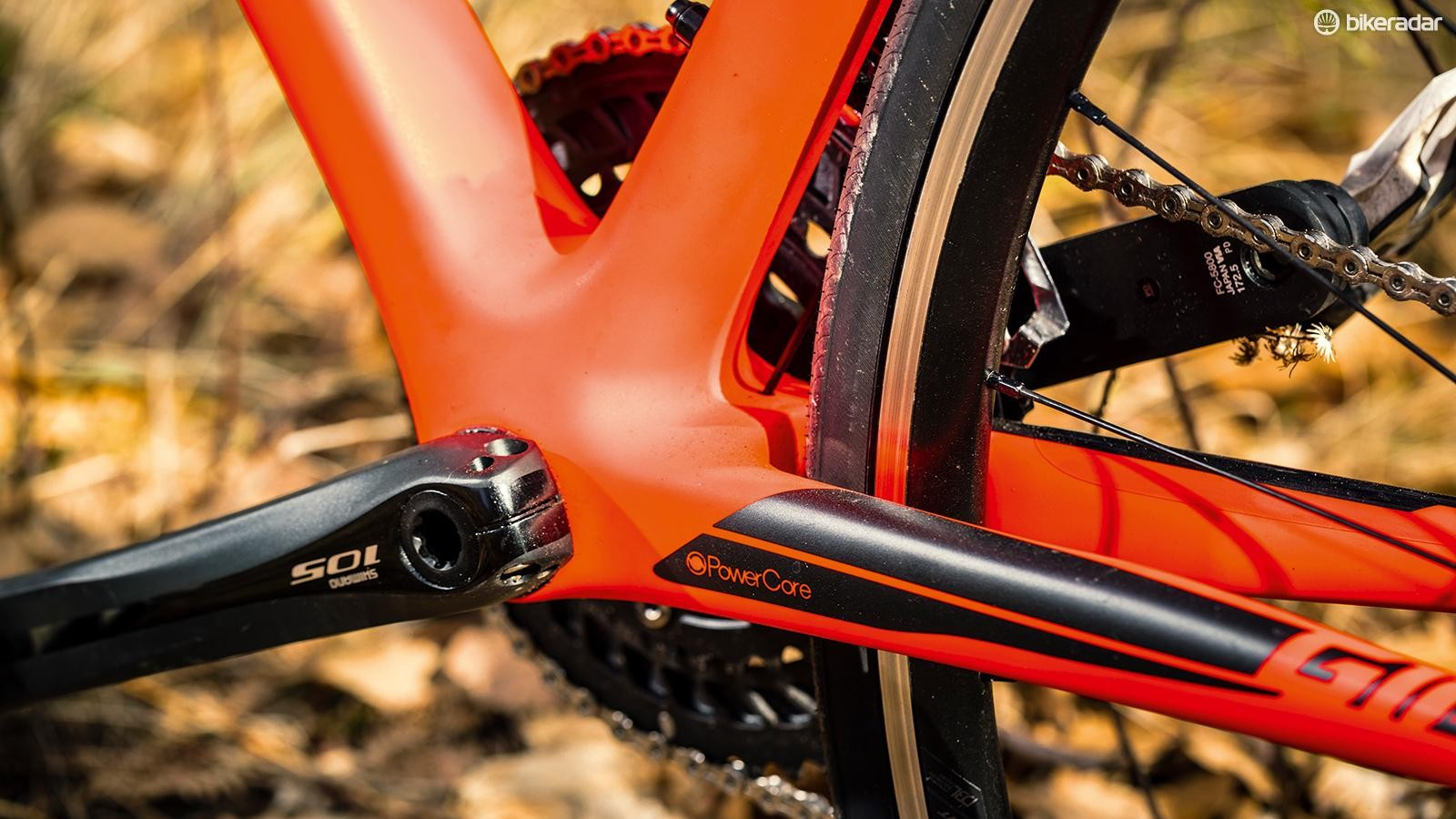 2750c23bf0e The broad bottom-bracket shell helps push power out