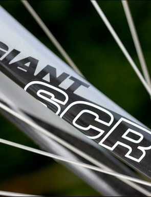 Carbon fork with an aluminium steerer that is pretty much standard issue at this price