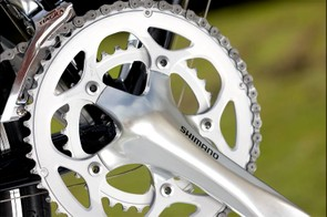 Shimano's 9-speed Tiagra groupset here is very nearly as good as its 105 in terms of functionality