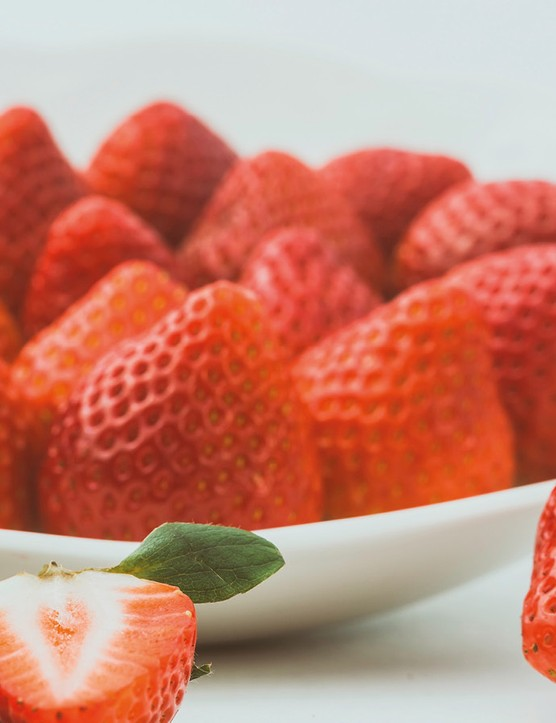 Strawberries provide natural sugars and contribute to one of your five-a-day!