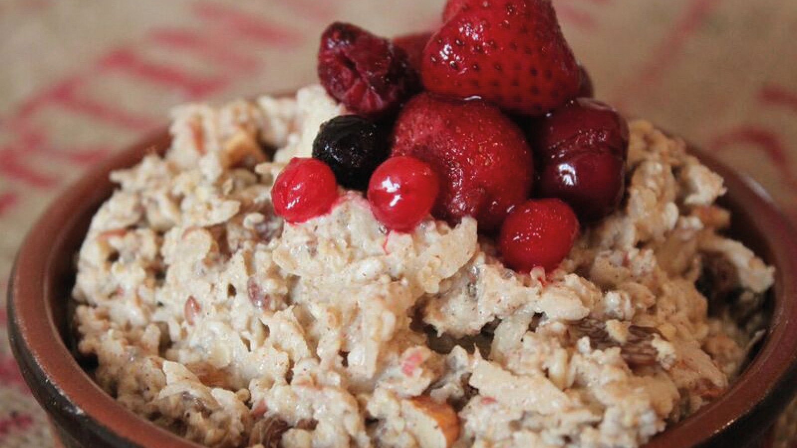 Bircher muesli is the perfect way to start the day if you've got riding planned