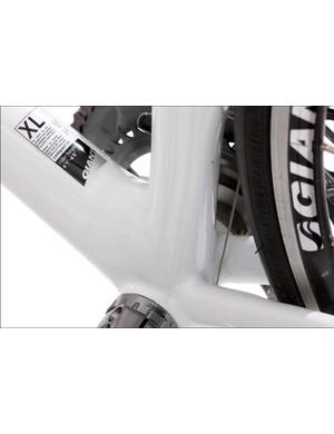 The mark of carbon: big tubes round the bottom bracket area keep everything stiff