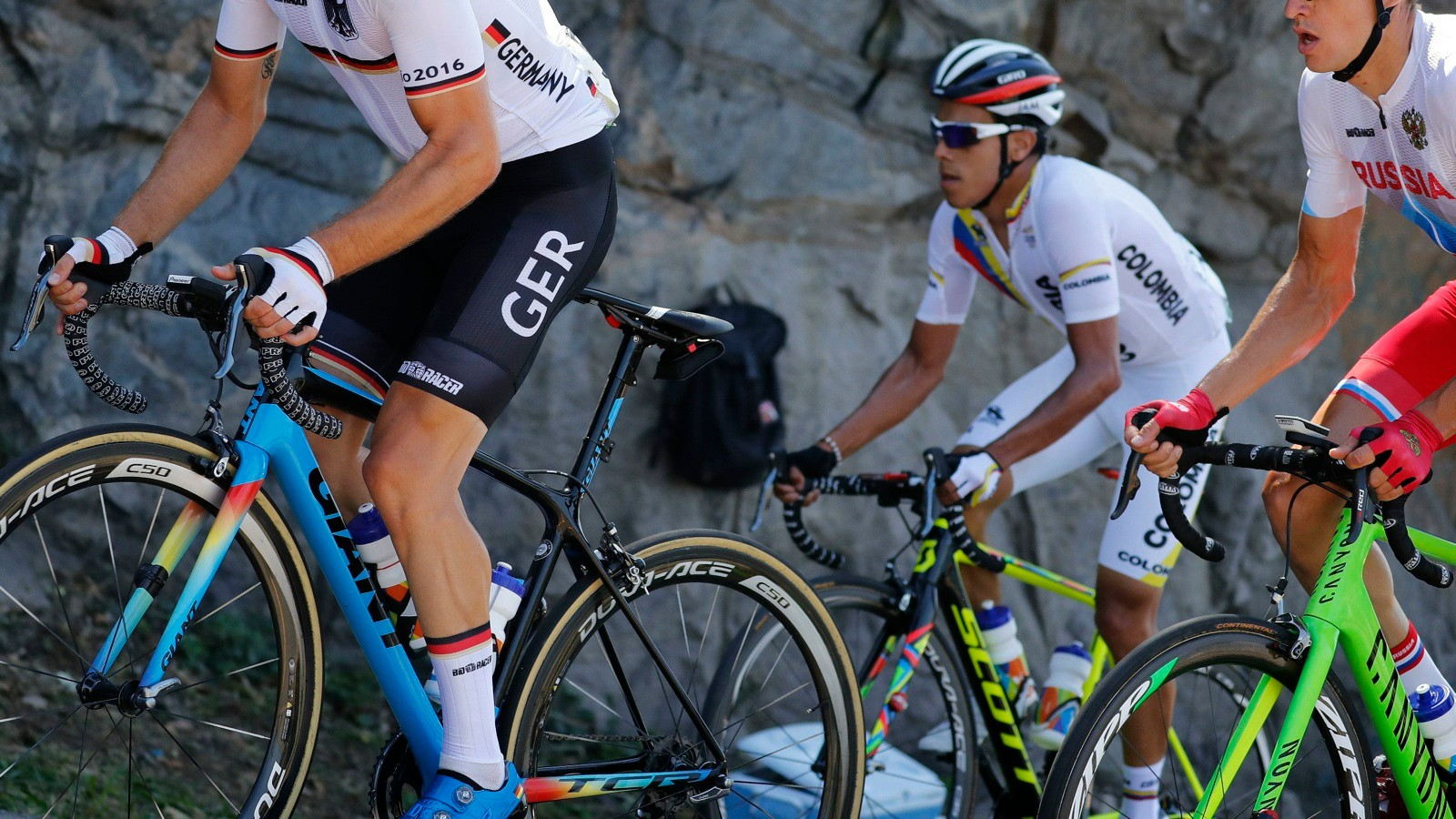 Giant, Scott and Canyon all provided special paint jobs for the Olympics
