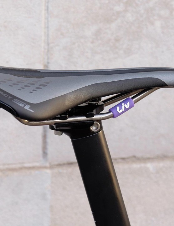 Women's specific Liv Forward saddle