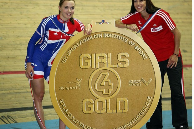 Victoria Pendleton and Winter Olympic silver medallist Shelley Rudman at the launch of Girls4Gold