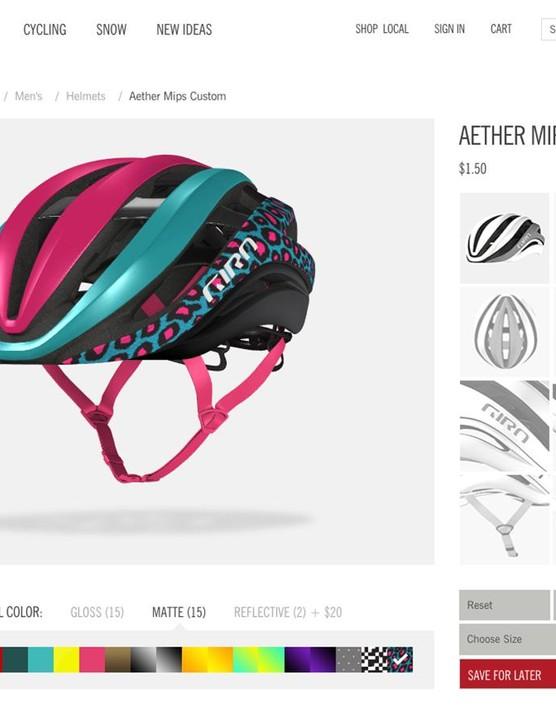 Giro's online design configurator