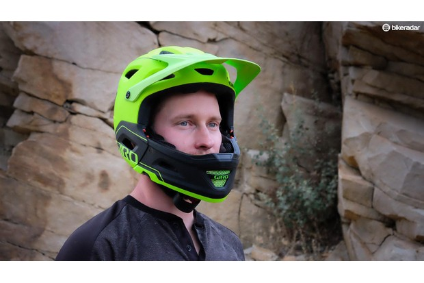 """Giro Switchblade with chin guard: """"safe enough to be certified for full DH use"""""""