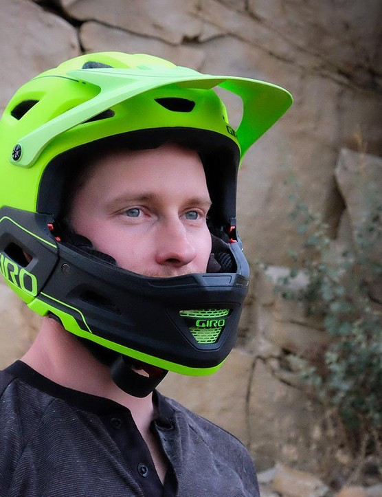 Giro Switchblade with chin guard: