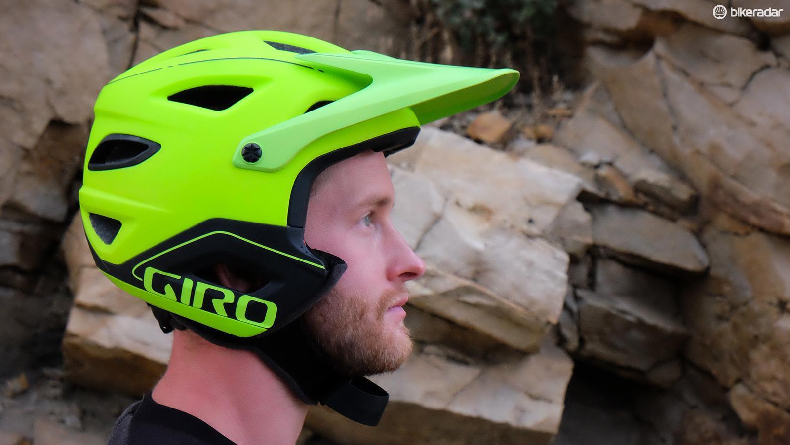 The Giro Switchblade in half-shell mode