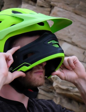 With a bit of practice, the chin bar becomes easy to install and remove without taking the helmet off