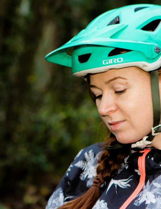 The Giro Montara helmet, which I've almost worn to death