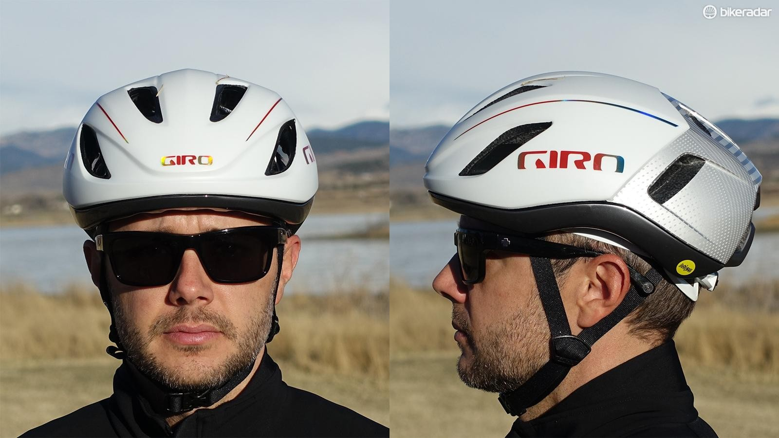 Giro's Vanquish looks wide to me from the front, but it's a quality lid