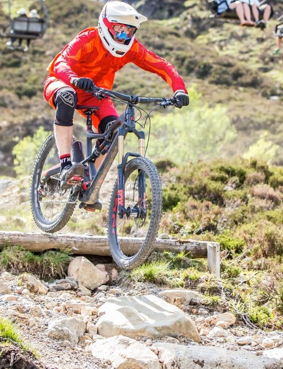 The Xquarone has a supple, almost 'floating' feel on bumpy trails