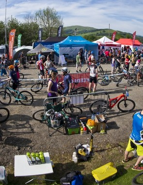 The event villiage is usually a bustling hub of people and mechanics, plus food, drink and gear outlets