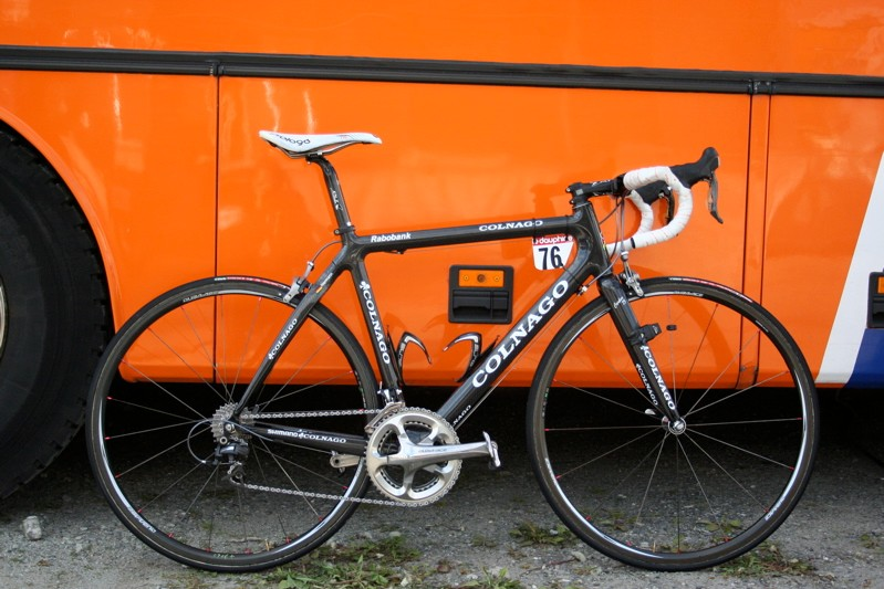 Grisha Niermann's new Colnago CX-1 is equipped with all sorts of Shimano prototype parts.