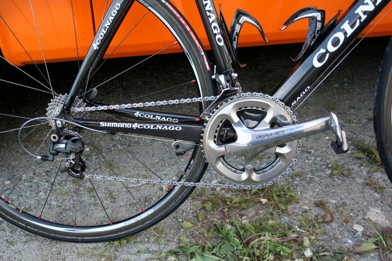 Niermann's drivetrain is almost entirely made up from prototype versions of Shimano's new Dura-Ace 7900 groupset.