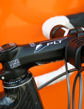 PRO's PLT stem is a no-nonsense, stiff aluminium choice for a hard worker like Niermann.