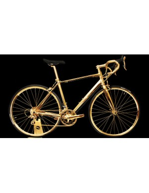 Who could ever forget this gold plated bike?
