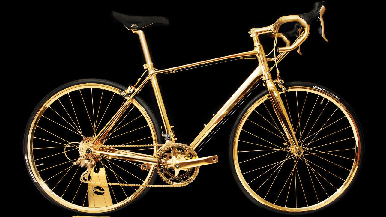 Oh look, someone has plated a bike in gold and it's hideous. What a surprise