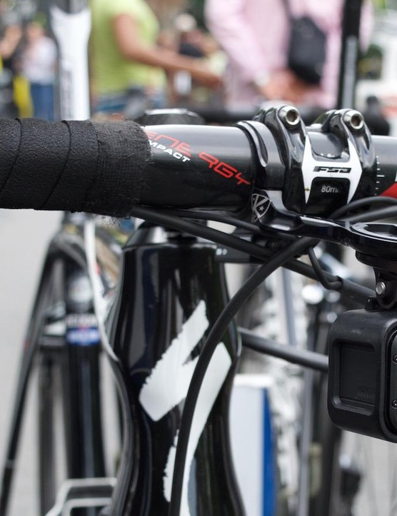 GoPro equipped some of the bikes each day with its 'Hero Session' to capture in-race footage
