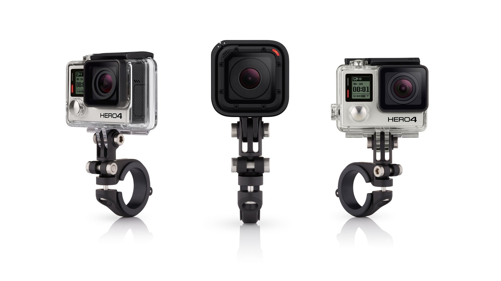 The new GoPro Pro Handlebar/Seatpost mount is alloy and has an effective mounting diameter between 22.2mm and 35mm