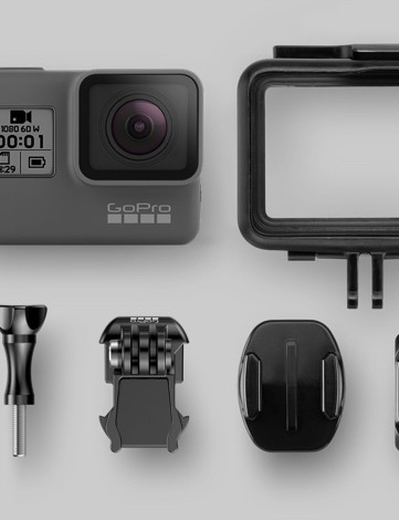 Like other GoPro action cameras, the base-model Hero is compatible with GoPro's full line of accessories