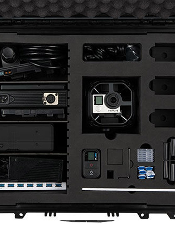 The all inclusive kit includes the Omni, six Hero4 Black cameras, external power kit, smart remote and USB hub