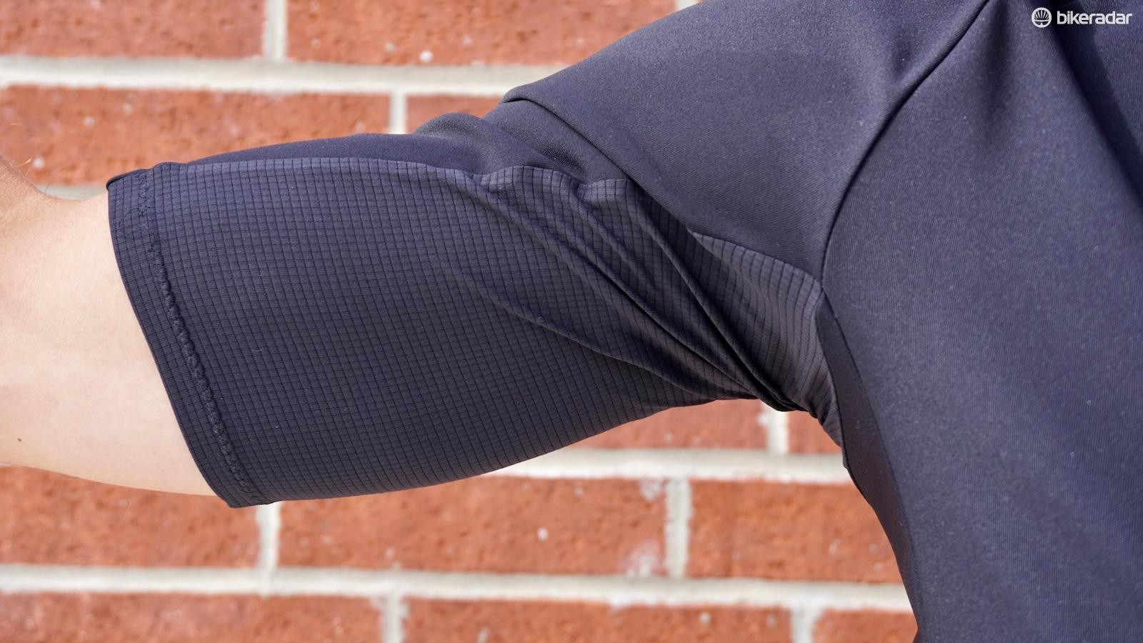 The underarm mesh material helps with fit and aids breathability