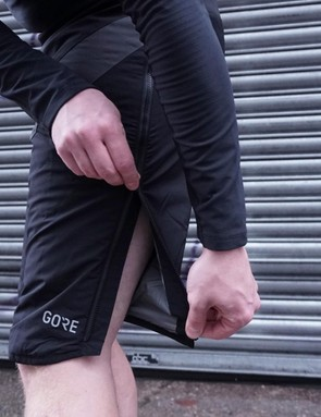 Zips up the side make getting them on and off easier