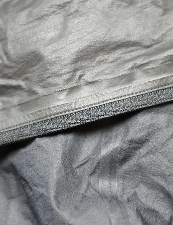 The seams are taped and the zipper works easily — which isn't always the case with rain jackets