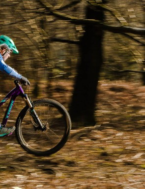 Loose fitting style jerseys and stretch shorts designed for female mountain bikers