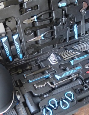 Pro's XL Toolbox has pretty much every tool you need, as well as a handy slot for everything to fit into