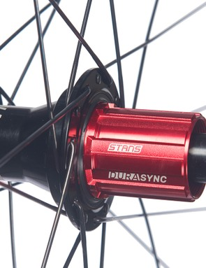Rear hubs on the CB7 Pro build are Stan's Neo Ultimate Speedsync hubs with a hardened steel ratchet and five-degree engagement