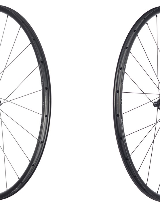 The disc brake only Grail CB7 wheels feature 24 front and 28 rear spokes