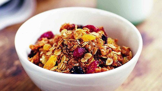Home-made granola is often much lower in sugar than shop bought equivalents