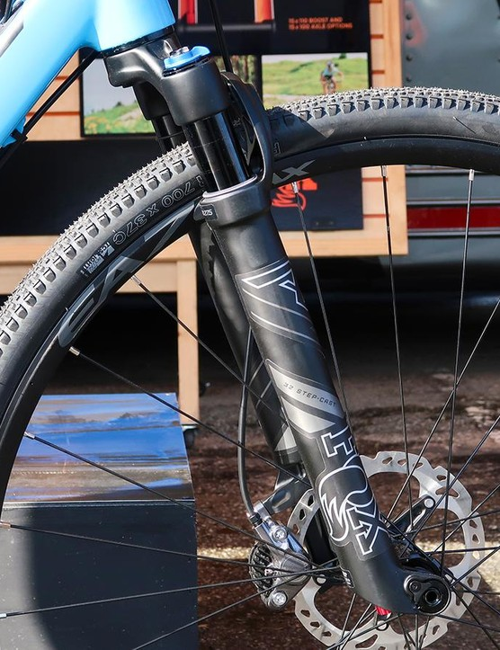 The new Fox AX Adventure Cross fork was mounted to a number of gravel bikes at the show