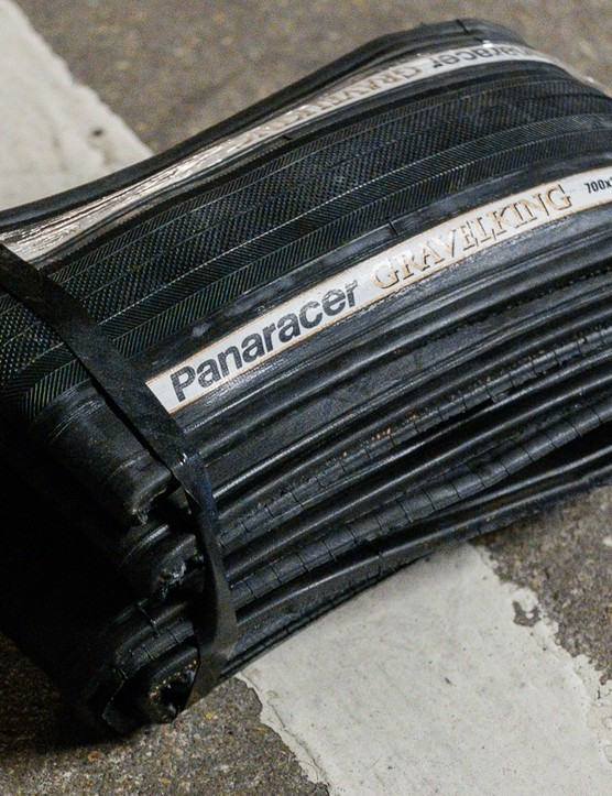 Panaracer recently sent us through its Gravelking tyres in a most-bike-friendly 28mm wide