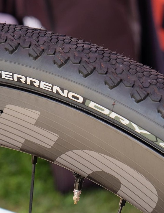 Vittoria has a full line of gravel treads for all conditions Shown here is the Terreno Dry