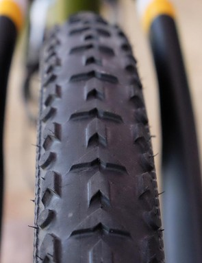 The Terreno Mix looks like an oversized cyclocross tread pattern