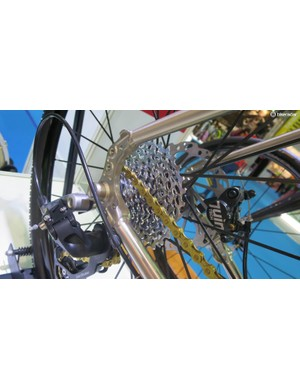 The RT30's cnc'd dropouts have provision for racks and guards alongside the 12mm thru-axle