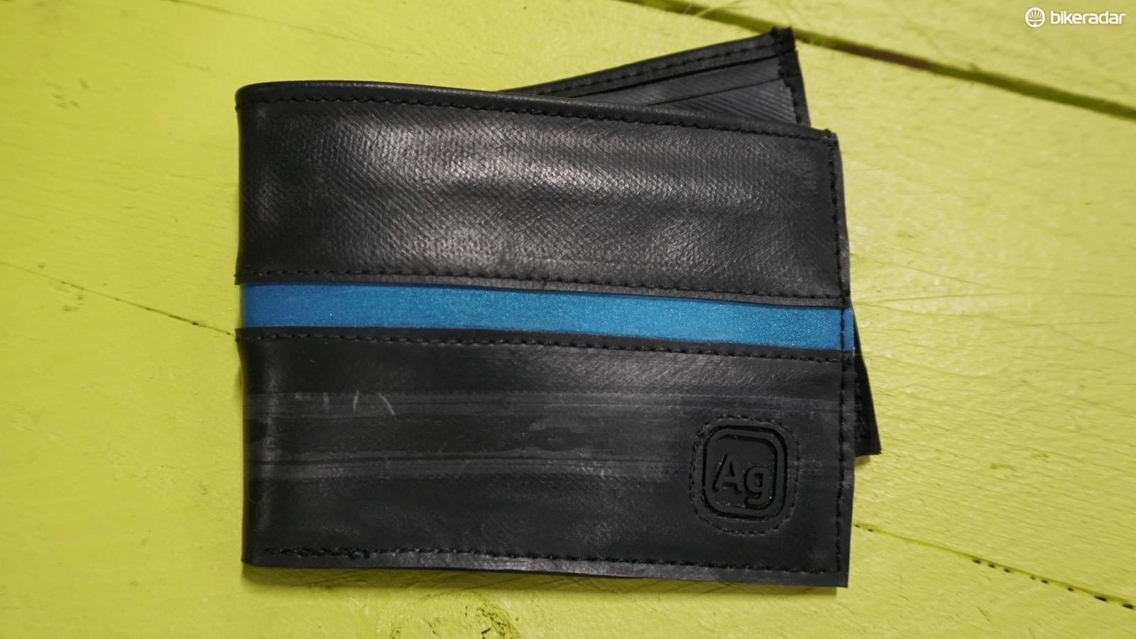 Green Guru recently purchased Alchemy Goods, another upcycle brand that makes stuff like this wallet