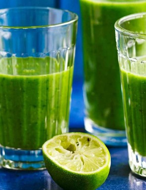 Green veggie goodness in a glass
