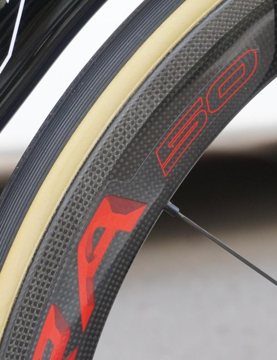 Bora Ultra 50 tubulars have a diamond-etched brake surface