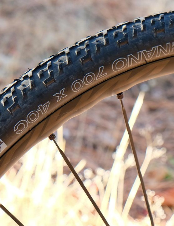 WTB's 700x40 Nano tire proved tough enough to survive the Grinduro