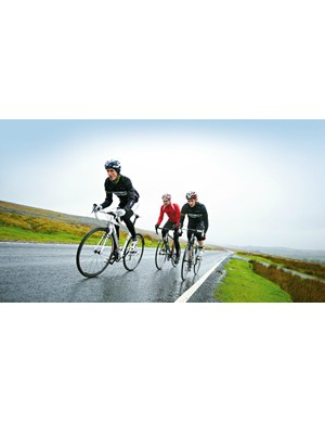 Riding buddies can give you the strength — mentally and physically — to face bad weather